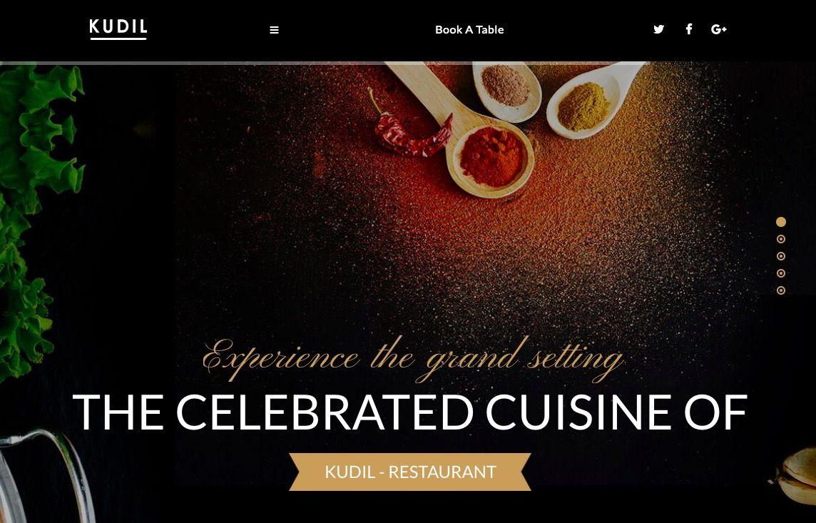 Best 7 Restaurant WordPress Themes 2019 Template 7