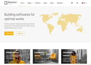 Yellow Business - best wordpress engineering themes-Template7