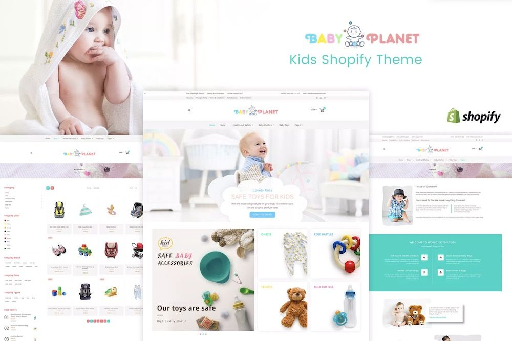 Baby Planet | Kids Toys & Responsive Shopify Template7