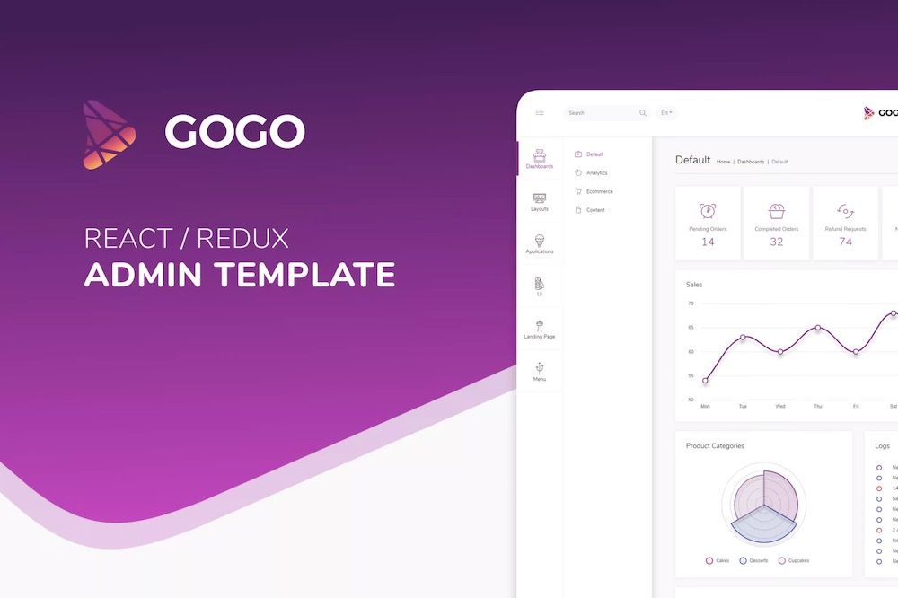 Gogo React - React Admin Template7
