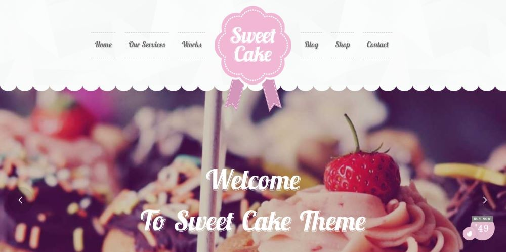 Sweet Cake - WP Theme For Bakery Yogurt Chocolate & Coffee Shop - Template7