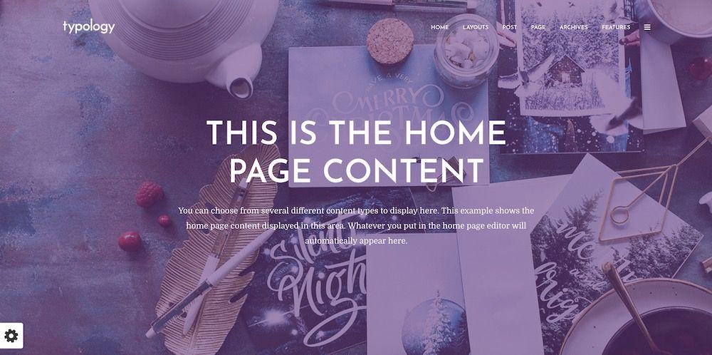 Typology - Text Based Minimal WordPress Blog Template7