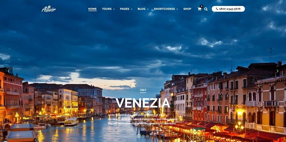 Altair - Travel Agency WordPress - Template7