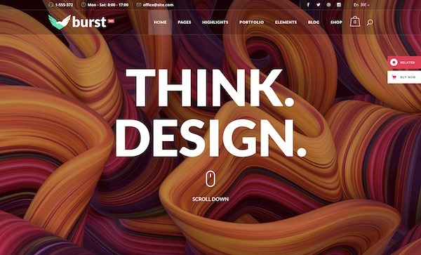 ,Burst - Bold and Vibrant Design Agency Template7