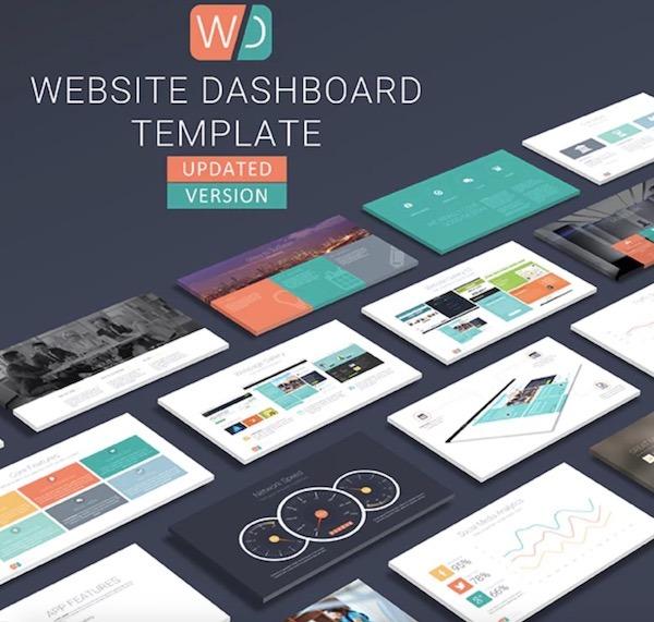 Website Dashboard Presentation Template7