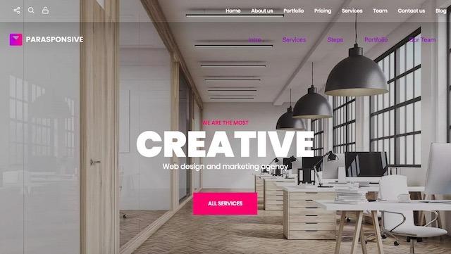 Parasponsive Corporate WordPress-Template7