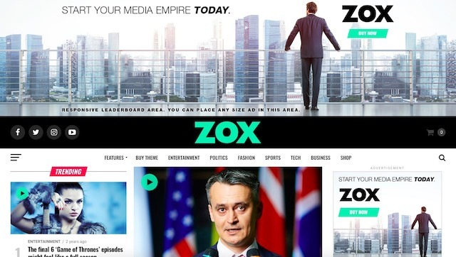 Zox News - Professional WordPress News & Magazine Template7