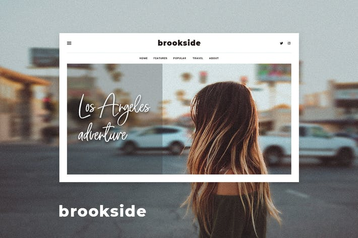 Brookside - Personal WordPress Blog Theme -Template7