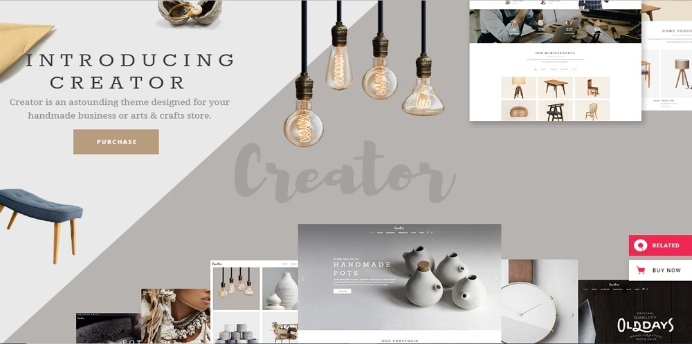 Creator - Theme for Handmade Artisans - Template7