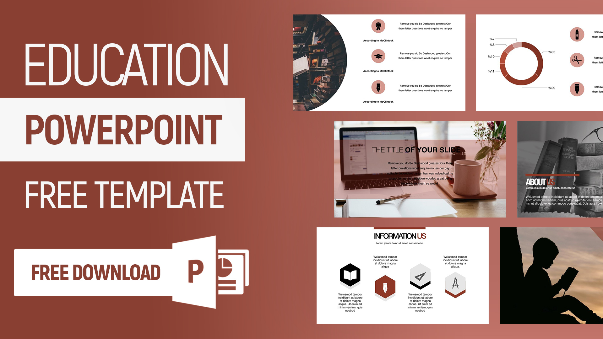 Education Free Powerpoint Presentation Template 2020 Template7